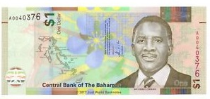 Billete Bahamas Actual 1 dolar