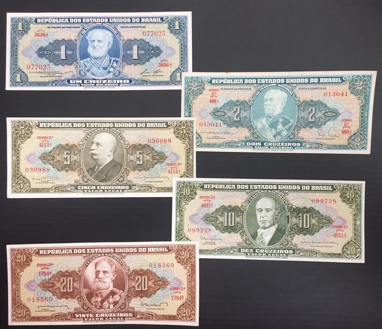 5 billetes brasil epoca de dictadura