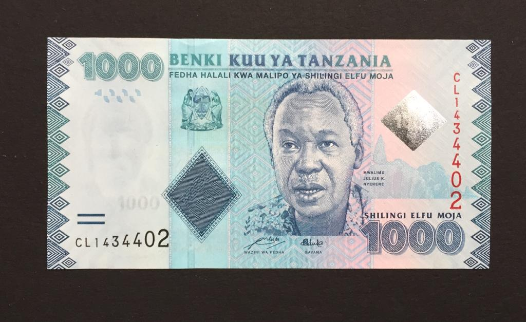 Billete de Tanzania de 1000 Shillings